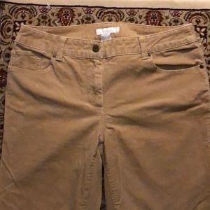 Chico corduroy tan pants